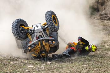 Man Crashing an ATV