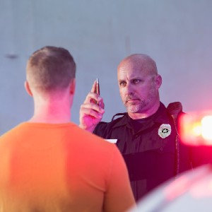 Police Officer Testing Impaired Driver