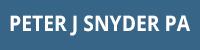 Peter J. Snyder, P.A. Logo