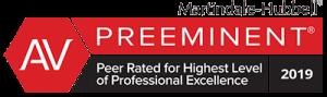 Martindale-Hubbell AV-Preeminent Rating Badge