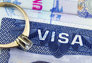 Ring resting on a Visa