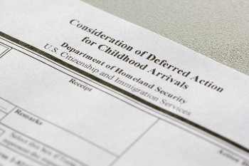 Form for Consideration of Deferred Action for Childhood Arrivals