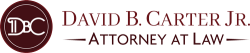 David B. Carter Jr. Attorney at Law Logo