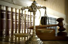 Scales of Justice in front of Gavel