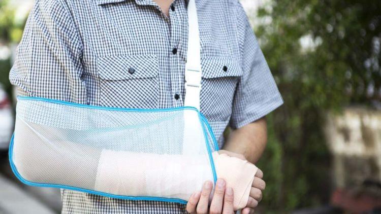 Man Wearing Arm Sling
