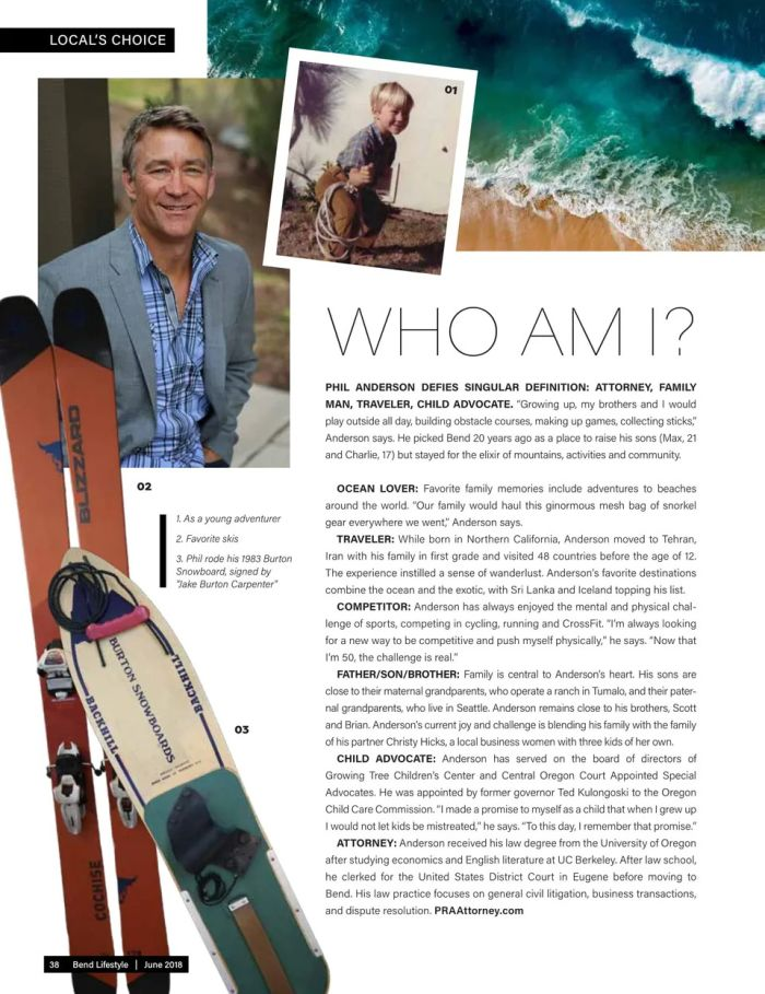Phil Anderson Feature in Bend Lifestyle Magazine