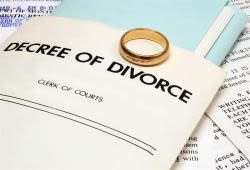 Wedding ring on top of decree of divorce