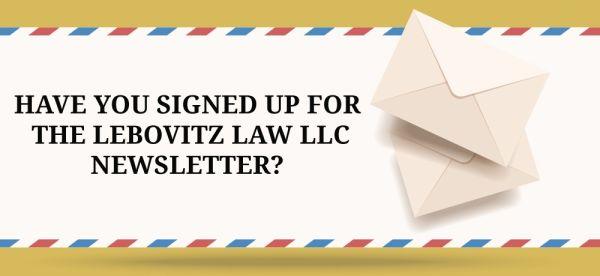 Lebovitz Law LLC newsletter graphic