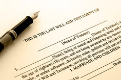 Incomplete last will and testament