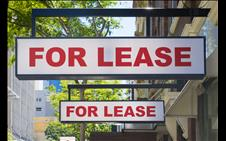 Two For Lease signs