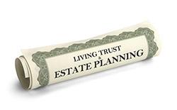 Living Trust & Estate Planning scrolls