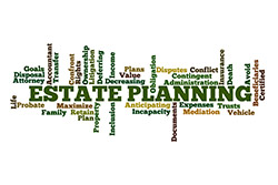 Estate Planning word bubble