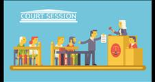 Graphic of a court session