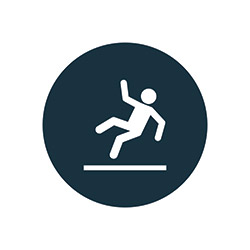 Slip and fall graphic