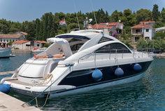 Luxury boat in a lake