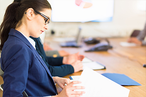 Business woman working in an office