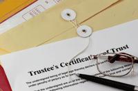 Trustee's Certificate of Trust on a folder
