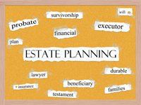 Estate Planning collage with other related words
