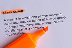 "A Paper with ""Class Action"" highlighted"