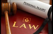 Personal Injury scroll on a law book