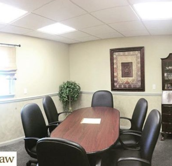 Conference room in Hall Law and Mediation Center