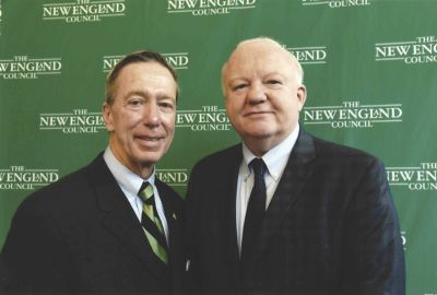 Attorney Foley with Congressman Stephen Lynch at a New England Council meeting