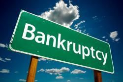 Bankruptcy street sign