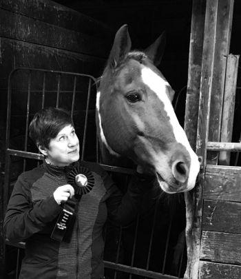 Attorney Chiara Mattieson and her horse, Ponyboy