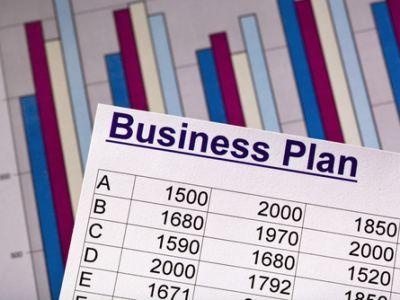 Business plan table and graph