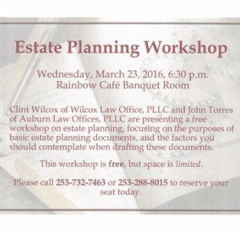 Estate Planning Workshop Information
